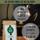 [LES JOURNEES DU CAFE]  Du 28/09/2020 au 03/10/2020, Profitez d'une remise de 10% sur tous nos cafés ET de la LIVRAISON OFFERTE sur notre boutique en ligne ==> https://valini.fr   Profitez également de la remise de 10% à notre atelier situé au 23 Avenue Carnot 30000 Nîmes.  Une très bonne occasion de découvrir les deux nouveaux cafés qui viennent de s'ajouter à notre gamme: - le BARU BLACK MOUTAIN, pure origine du Panama aux notes d'agrumes et de pain d'épices - le GEDEO, pure origine d'Ethiopie, un café léger aux notes de fleurs blanches.  Pour toutes questions ou besoins de conseil, n'hésitez pas à nous contacter à l'adresse suivante: contact@valini.fr ou au 0430674066  L'équipe Valini !  #valini #torrefacteur #torrefaction #probat #roastery #nimes #offre #gard #gardtourisme #nimestourisme #artisan #artisanatfrancais #cafe #atelier #coffeelovers #journeesducafe #ideecadeau #coffeeaddict #baristadaily #coffeetime #livraisongratuite